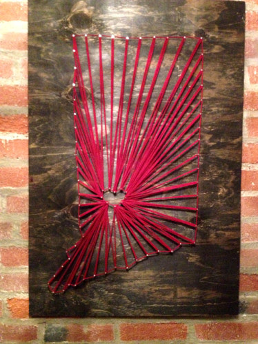 Wall Decor Idea: Indiana Map Using Nail String Art | PlanItDIY