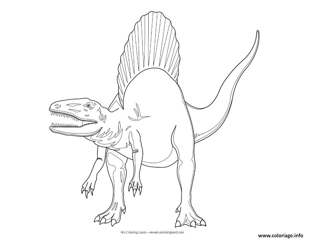 Coloriage Dinosaure Jurassic Park Spinosaurus Jecoloriecom