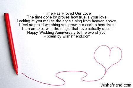 Time Has Proved Our Love, Anniversary Poem