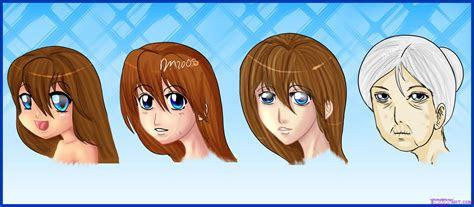 draw manga style female faces step  step anime