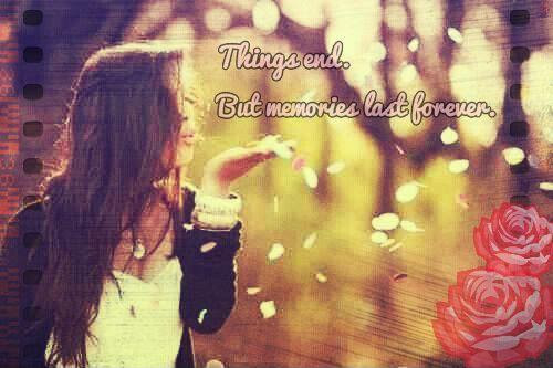 Things End But Memories Last Forever Picture Quotes