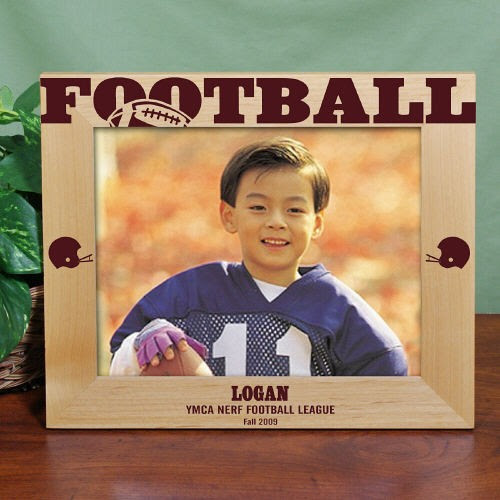 Laser Engraved 8x10 Football Wood Picture Frames Personalized Nfl