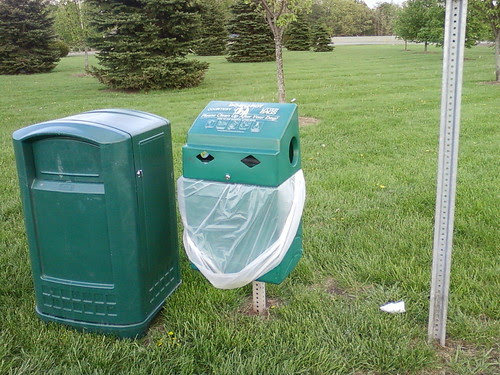 Pareidolia - dog poop dispenser