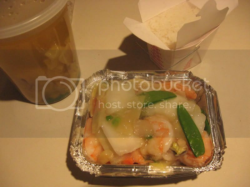 Shrimp with Chinese Vegetables and Wonton Soup