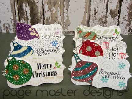 ornament card set