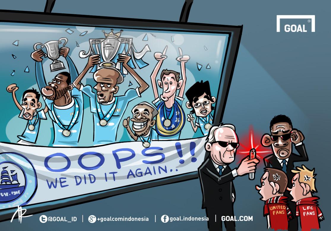 GALERI Kartun Goal Indonesia Manchester City Juara Liga Primer