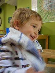 Elliott giggling