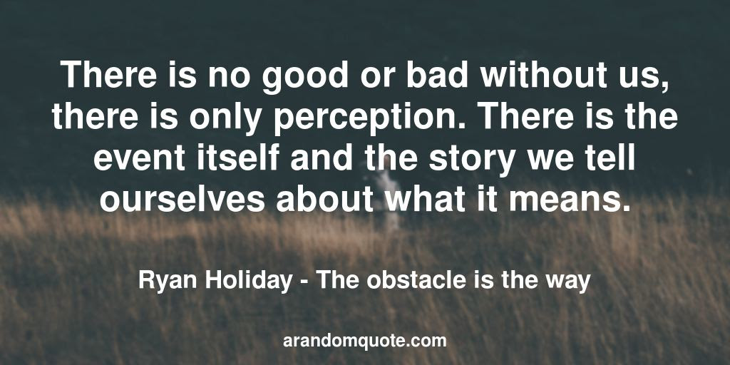 Best Image Quotes From The Obstacle Is The Way Book A Random Quote