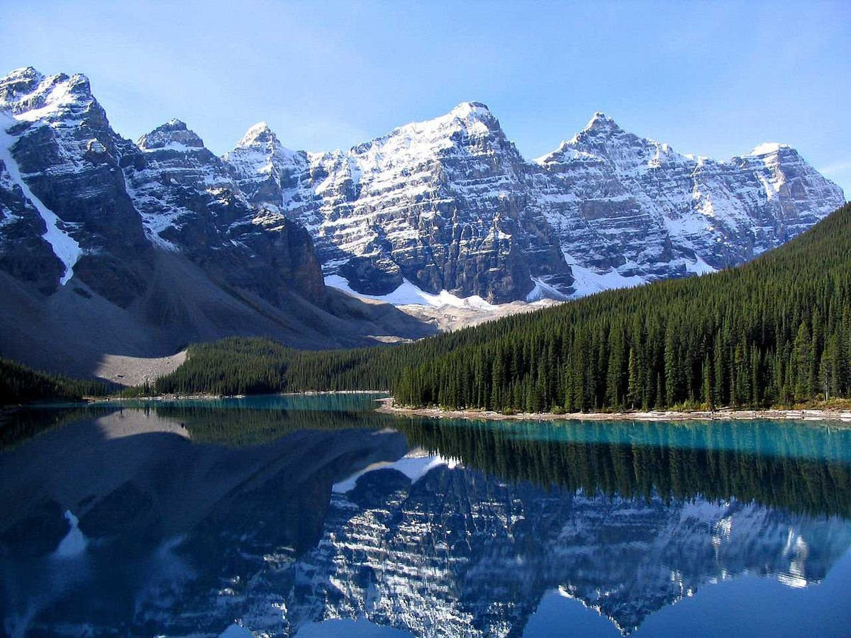 No grand tour of Canada would be complete without a visit to Banff National Park. The glacier-fed Moraine Lake makes for an especially dramatic vista.