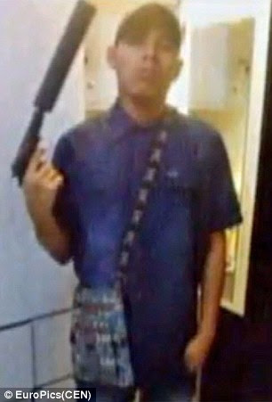 Jonathan Giraldo, 38, posted videos and pictures of himself on Facebook -  including some which showed his arsenal of weapons