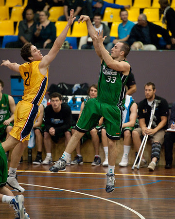Scott Paget, Jarred Bairstow - QBL Quarter Final Basketball: Gold Coast Rollers v Brisbane Capitals; Carrara, Gold Coast, Queensland, Australia. Photos by Des Thureson:  http://disci.smugmug.com.