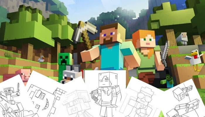 Minecraft Stampa E Colora Disegniorg