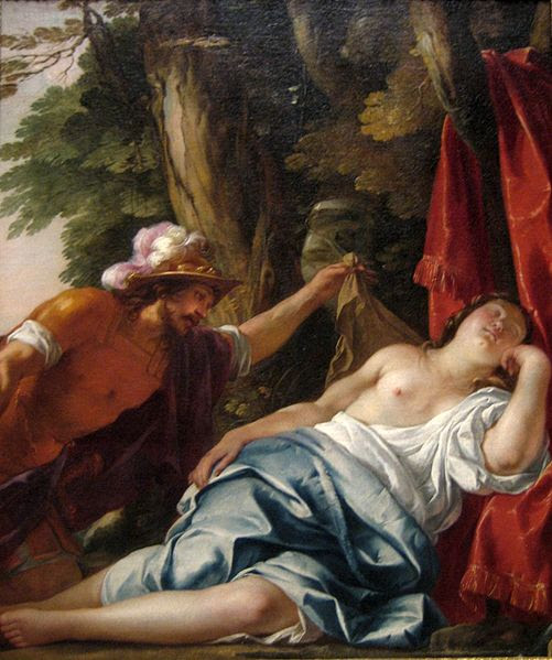 File:'Mars and the Vestal Virgin', oil on canvas painting by Jacques Blanchard, ca. 1630, Art Gallery of New South Wales.jpg