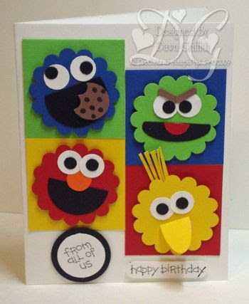 Here is a Sesame Street Birthday card I made.