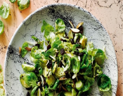 Brussels Sprout Leaves With Raisins, Almonds And Sherry