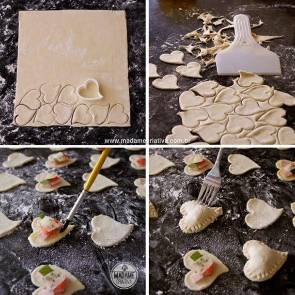 Τοποθέτηση καρδιά τροχαίο πίτσα γεύση Βήμα-βήμα με φωτογραφίες - Πώς να ψήνουν ζαχαροπλαστικής πίτσα με γεύση DIY φροντιστήριο - Madame Creative - www.madamecriativa.com.br