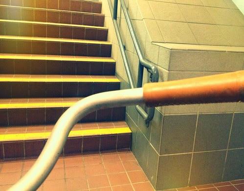 Bike on the T: Stairs Despite Elevator