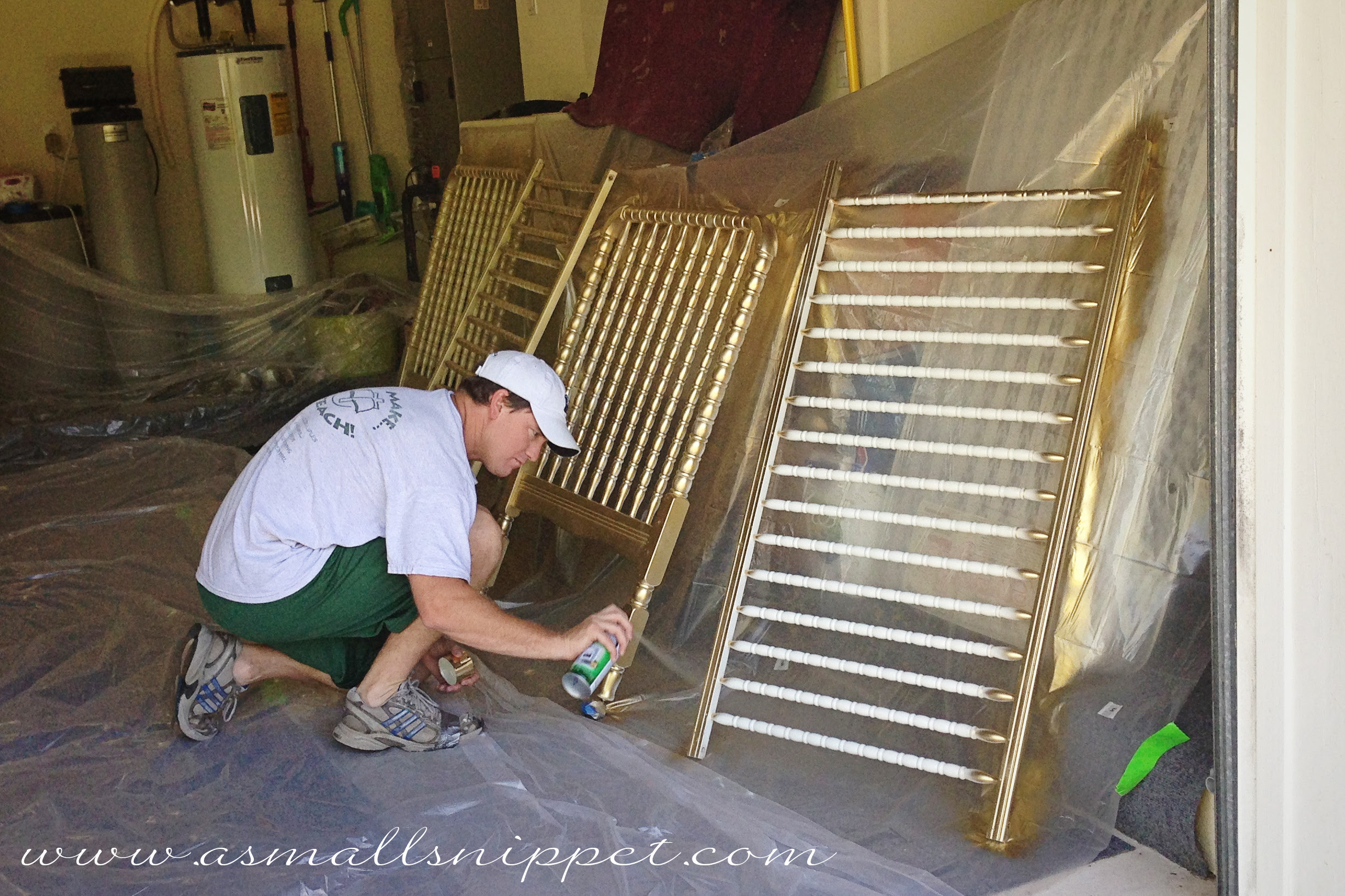 Metallic Gold Crib A Small Snippet