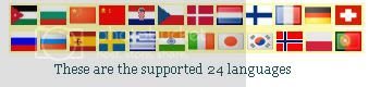24 Supported Languages