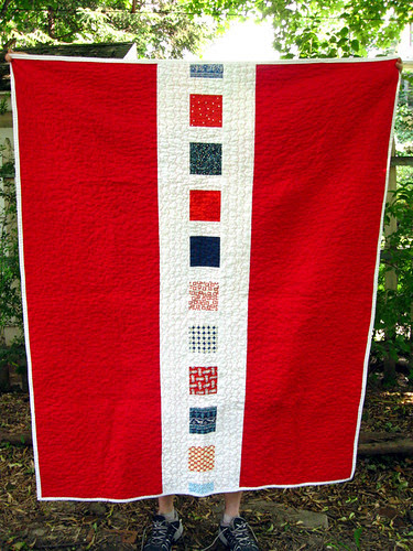 Dad's quilt back
