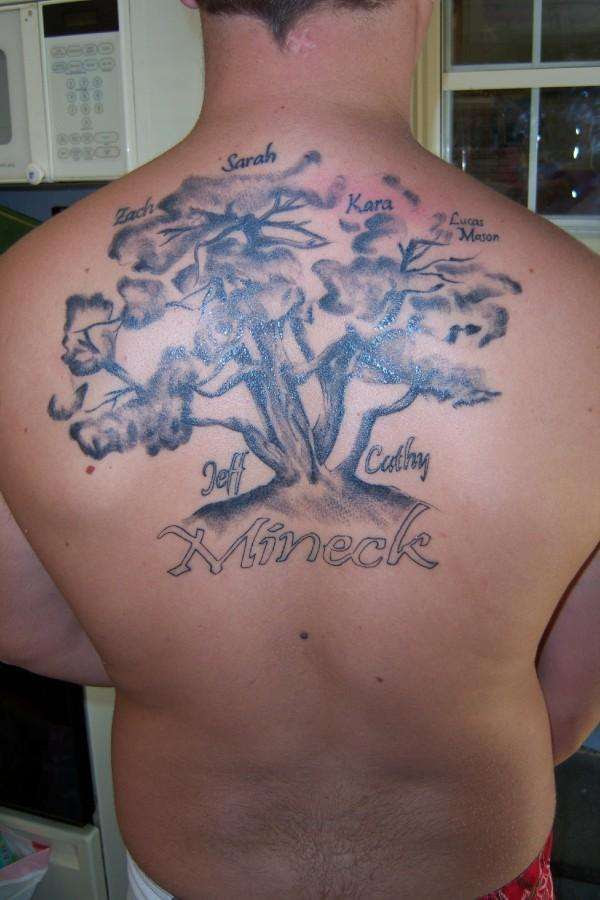 Upper Back Family Tree Tattoo For Men In 2017 Real Photo Pictures