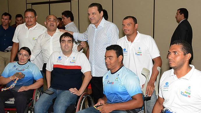 RN - reunião Tocha Olímpica - George Hilton, ministro do Esporte - Henrique Eduardo Alves, ministro do Turismo (Foto: Paulino Menezes)