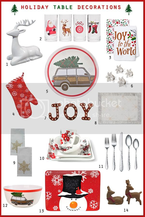 Christmas Holiday 2015 Table Setting Dining Decorations