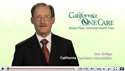 California OneCare Ad #21 Don Bridge of the California Teachers Association.