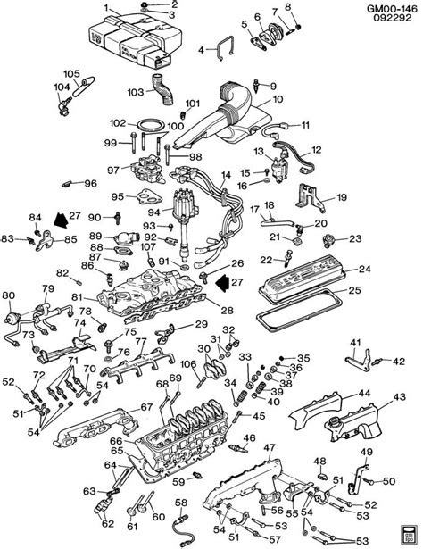 1993 Buick ENGINE ASM-5.7L V8 PART 2