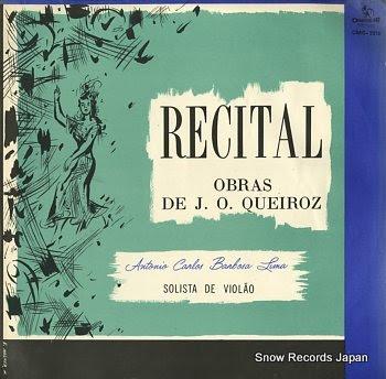 BARBOSA-LIMA, ANTONIO CARLOS recital de obras de j.o. queiroz
