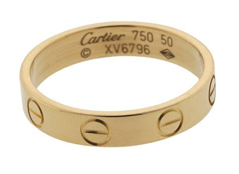 Cartier Love Band Ring 4mm 18k Yellow Gold   New York