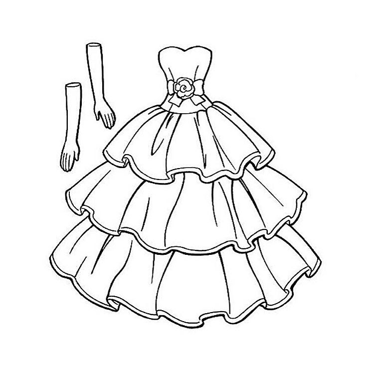 Robe De Princesse Coloriage Az Coloriage