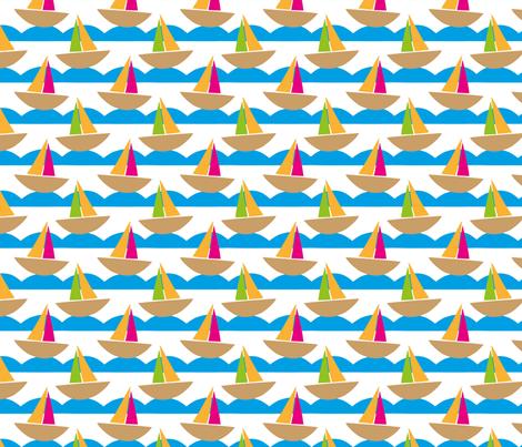 Beside The Seaside fabric by applekaurdesigns on Spoonflower - custom fabric