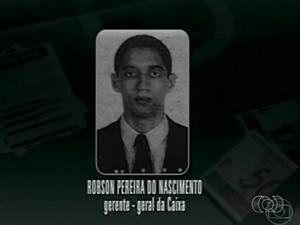 Gerente da Caixa que participou de golpe, Robson Pereira do Nascimento, está em liberdade (Foto: Reprodução/TV Anhanguera)