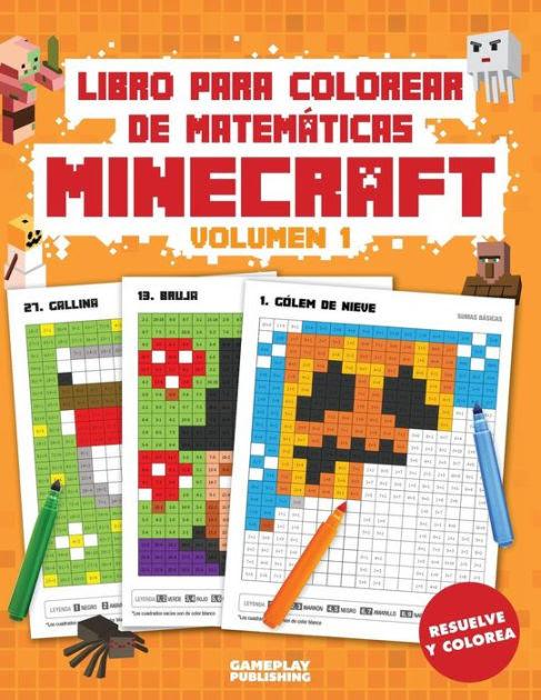 Libro Para Colorear De Matemáticas Minecraft Arte Pixelado Para