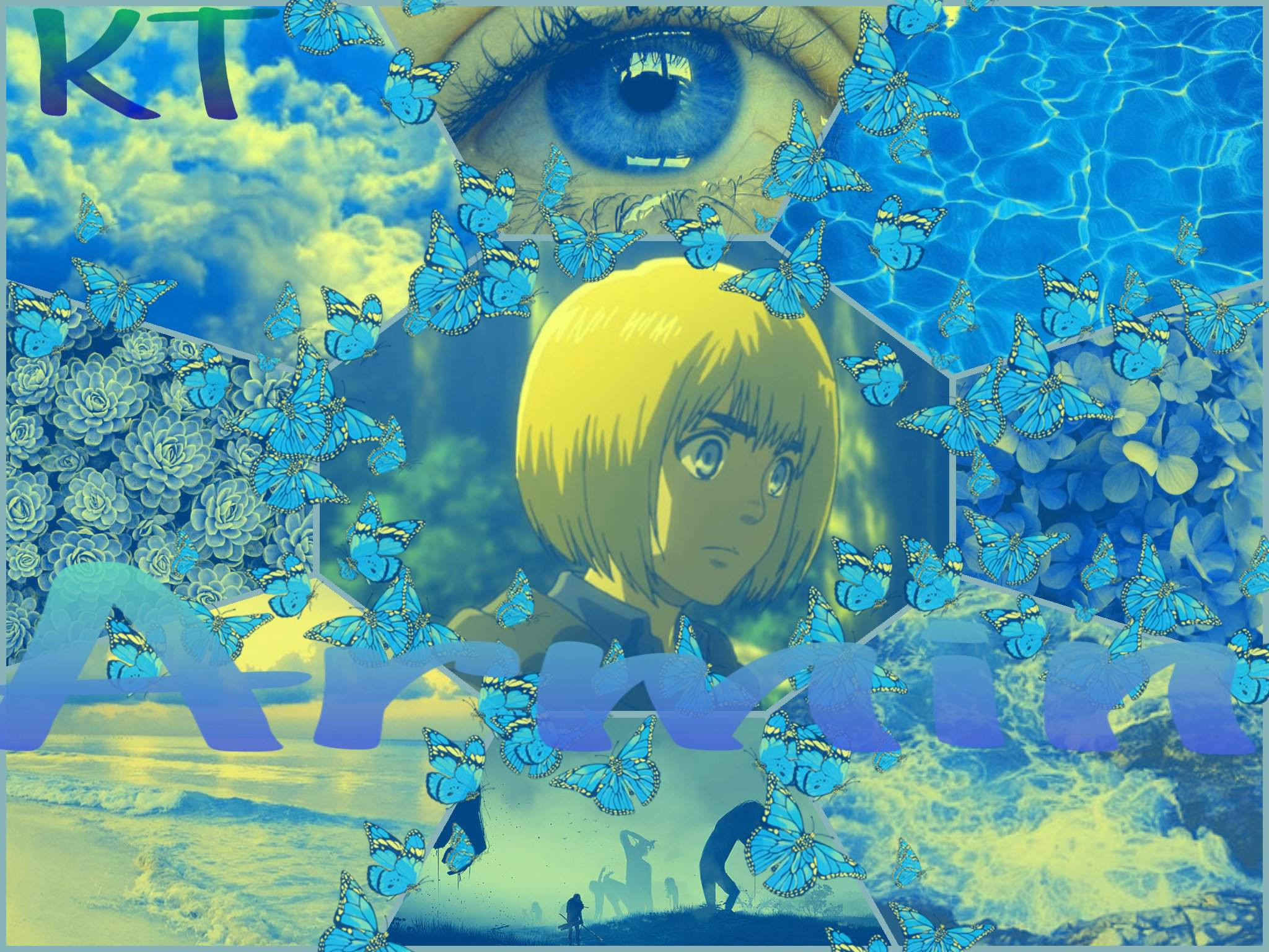 Anime Wallpaper Hd Blue Anime Aesthetic Attack On Titan
