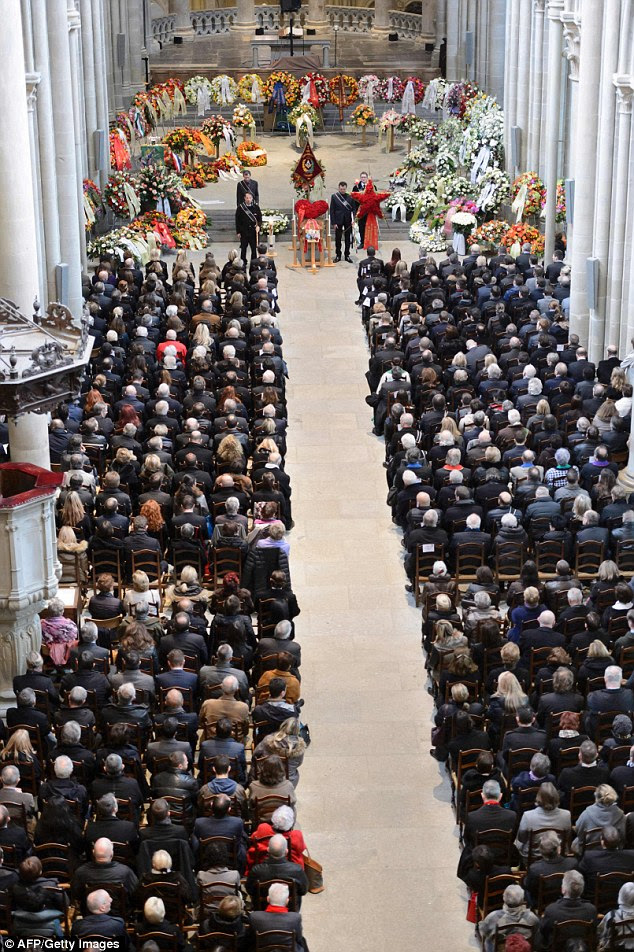 Some 1500 mourners gathered to pay tribute to Violier during his funeral ceremony at the Cathedral of Lausanne in western Switzerland on February 5