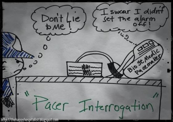 Pacemaker Interrogation Cartoon