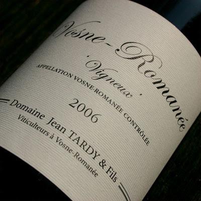 Vosne-Romanée from Domaine Jean Tardy