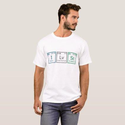 I Love Science T-Shirt Men