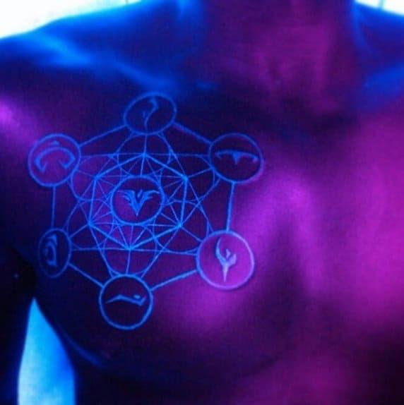 60 Glow In The Dark Tattoos For Men Uv Black Light Ink Designs