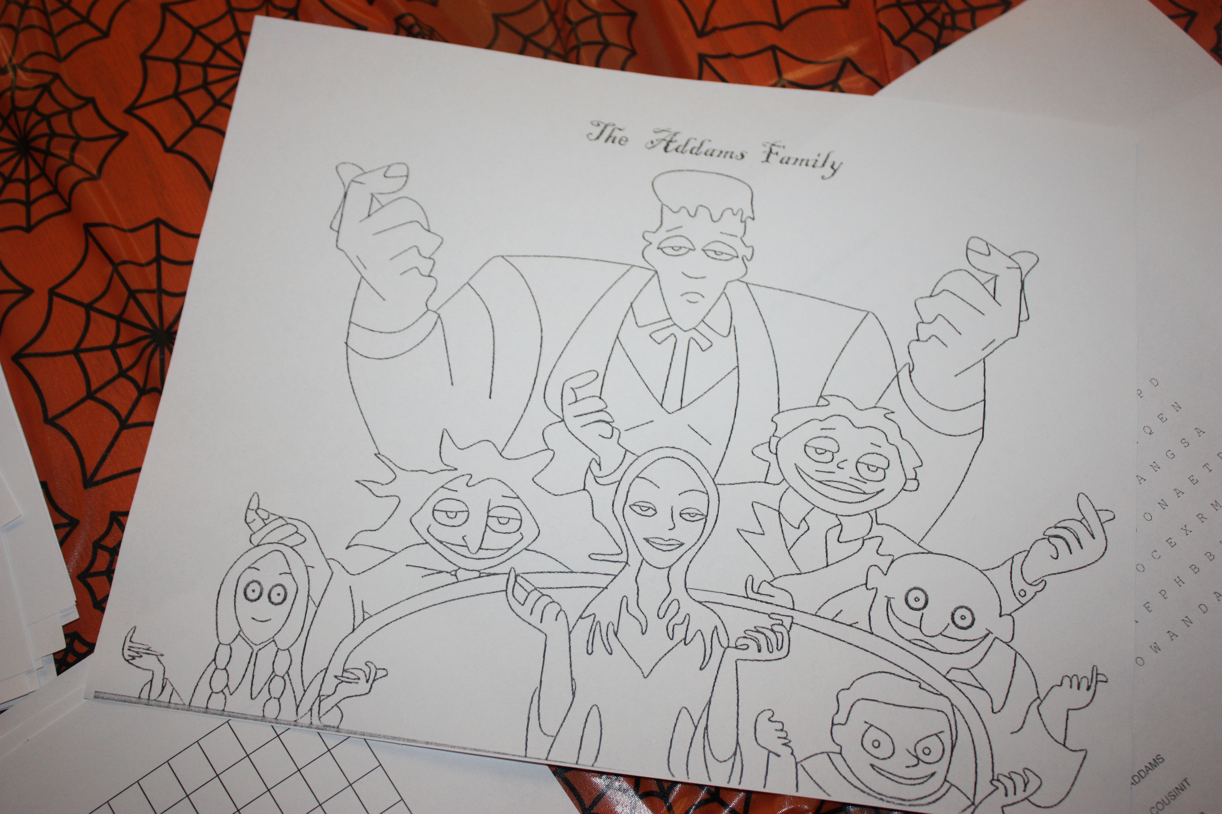 Addams Family Movie Coloring Pages - colouring mermaid