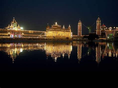 amritsar golden temple diwali hd desktop wallpaper