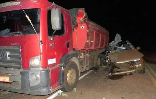 Grave acidente tira a vida de jovem na BR-158