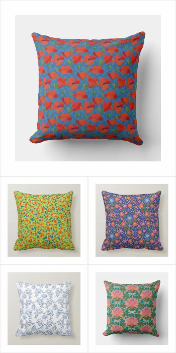 One Hundred Floral Pillows