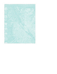 2a Map 1654 Plan de Boisseau LIGHT TURQUOISE - A2 card size PORTRAIT or VERICAL