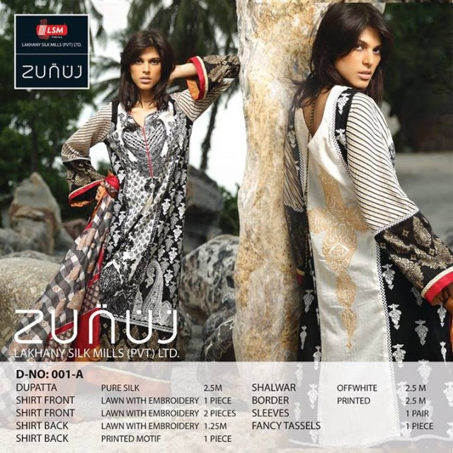 Beautiful-Cute-Girls-Models-Wear-Summer-Eid-Dress-Collection-2013-Lakhani-Silk-Mills-18