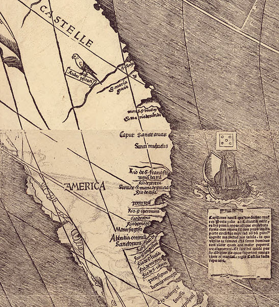 Archivo:Waldseemuller map closeup with America.jpg