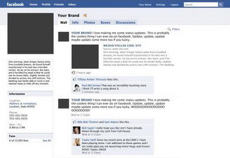 Editable Facebook Template