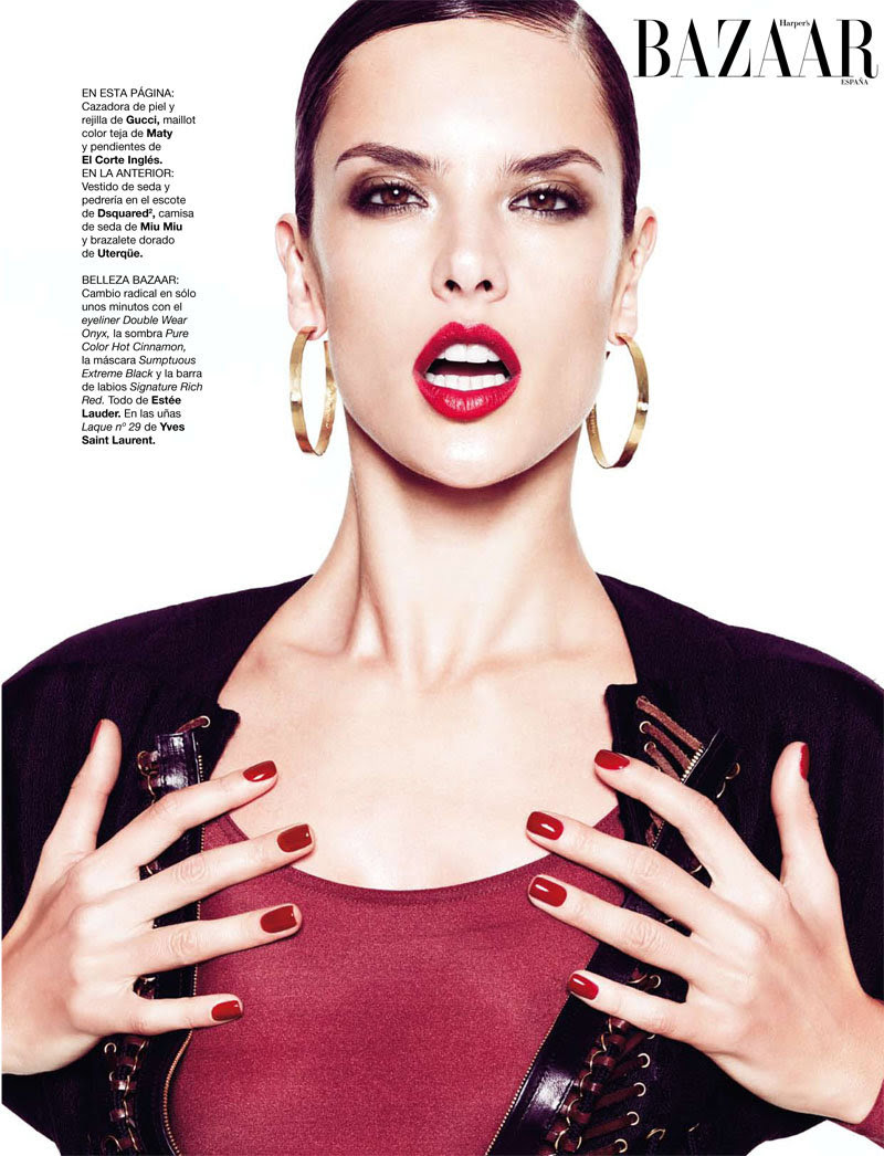 alessandra ambrosio6 Alessandra Ambrosio for <em>Harpers Bazaar Spain</em> February 2011 by Nico